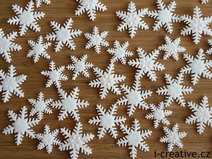 sněhové vločky z moduritu
