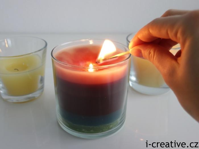 svíčky z vosků do aromalampy